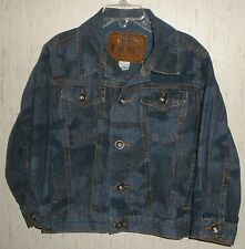 EXCELLENT BOYS OLD NAVY BLUE JEAN CAMOUFLAGE TRUCKER JACKET   SIZE 4