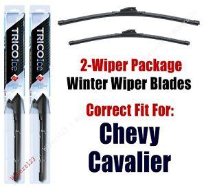 1995-2005 Chevrolet Chevy Cavalier WINTER Wipers 2-Pk Super-Premium 35220/35170