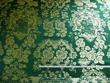 "New listing By Yard Scalamandre ""Villa Louis"" Silk Brocatelle Emerald Green Msrp $300/Y"