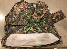 NEW NO TAGS MENS MOSSY OAK OBSESSION TURKEY HUNTING CAMO LONG SLEEVE SHIRT XL