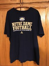 2010 Adidas Notre Dame Football Hyundai Sun Bowl T-Shirt XL
