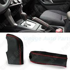 Sewing Leather Gear Cover + Hand Brake Cover For SUBARU FORESTER XV 2013-2105
