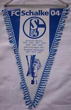 Orig.Wimpel  FC SCHALKE 04 - Pokalsieger 2001 / 40 cm Metallkette + Stange ! TOP