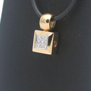 Diamant Brillant 0,18 Ct Anhänger 585 Gold 14 Karat Gelbgold Wert 1100,-