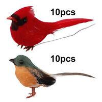 Realistische Kardinal Vögel mit Clip für Kränze Girlande Tür Dekorationen