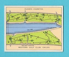 GOLF - PLAYERS - CHAMPIONSHIP GOLF COURSES CARD -  WESTERN  -  1936