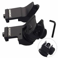 Tactical 45 Degree Offset Front Rear Backup Iron Sight Flip Up Rapid Transition