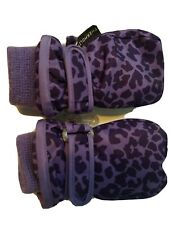 The Childrens Place Thermolite Winter Gloves Mitten Leopard Purple Girls S 6-12m