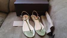 New $650 Sold Out NIB Bottega Veneta Ankle Strap Thong Sandals Flats 39 8.5 9 US