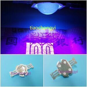 10W High Power  LED Lamp Ultra Violet UV 395nm 900mA 12V + 60 degree len 1pcs
