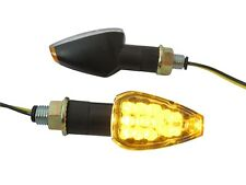 Short Black LED E-Marked Indicators for Kawasaki ZZR600 ZZR1100 ZZR1200 ZZR1400