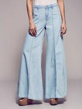 People 4 Gilmour High Rise Jeans Landon Blue Wide Leg Flare Women