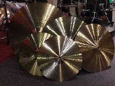 "Paiste Giant Beat Cymbal Set 24"", 20"", 15"" pr. & FREE 18"""
