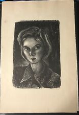 Rare Barbara Shermund self-portrait print, signed, dated and numbered