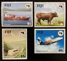 1984 Fiji, Power Station, Cattle, Boeing, Ship, Set of 4 Scott 514-517 Mint NH