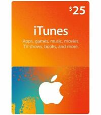 $25 Apple iTunes Gift Card brand new