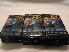 LORD OF THE RINGS TCG BATTLE FOR HELM'S DEEP LOT OF 30 SEALED PACKS