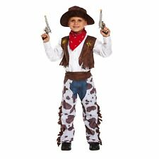 Cowboy Costume Kids Medium 7-9 Years Fancy Dressing Up Party Gun Wild West Boys