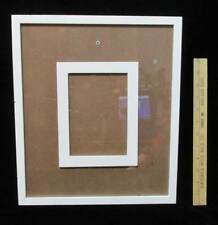Picture Frame 4.5 x 6.5 w/ Bulletin Board Back to Personalize White Scrapbook