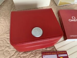 NEW OMEGA WATCH BOX ORIGINAL AUTHENTIC CASE OPERATING INSTRUCTIONS WARRANTY CARD