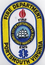 Portsmouth Fire Department Virginia Fire Patch  NEW !!