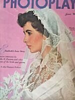 Vintage Collectible Movie Magazine Photoplay Elizabeth Taylor Cover June 1950