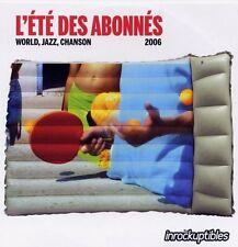 LES INROCKUPTIBLES l'été des abonnés 2006 WORLD JAZZ CHANSON CD CARDSLEEVE 12T
