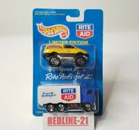 """Hot Wheels 1997 """"Rite Aid"""" Hiway Hauler Rocky Mountain Rescue 2-Pack New"""