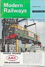 MODERN RAILWAYS Aug 1963 Stockholm Subway * Bulk Rail Freight * New US Diesels