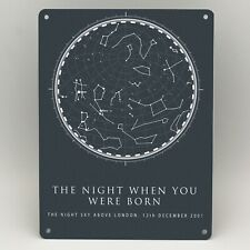 PERSONALISED STAR MAP  METAL SIGN 16th 18th 21st BIRTHDAY GIFTS PRINT NIGHT SKY