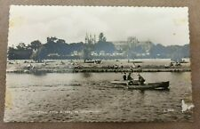 VINTAGE VALENTINES PHOTO POSTCARD OATHEDRAL FROM RIVER PETERBOROUGH 1950S