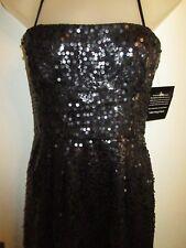 BCBG Max Azria NWT $248 6P Dress Cocktail Sequined Black Strapless Carole Party