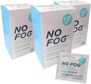 No Fog Lens Cleaning Wipes - 30 Wipes (Pack of 3)