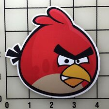 "Angry Birds Red Bird 4"" Wide Multi-Color Vinyl Decal Sticker - BOGO"