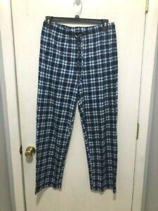 NEW Croft & Barrow Sleep Lounge Pants Blue Plaid Men's SZ Medium COZY