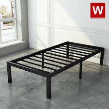 "Twin Steel Bed Frame Metal Platform Beds with Heavy Duty Steel 14"" Storage"