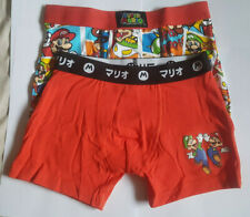 Super Mario Boys Boxer Shorts Hipsters 2 Pack Ages 6-12 Years