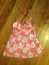 Women's Hollister Size Bettys Medium Pink White Cami NWT