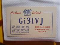 OLD VINTAGE QSL HAM RADIO CARD. BELFAST, NORTHERN IRELAND. 1962