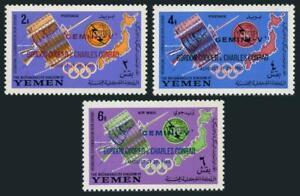 Yemen Kingdom 179A-181A,Bl.23a,MNH.ITU-100,1965.Gemini V.Cooper,Conrad