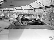 1964 WORLDS FAIR WALT DISNEY IN BACK SEAT SKYWAY 8 x 10 Photograph