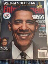 Barack Obama Entertainment Weekly Magazine Issue Jan 2009.double Issue
