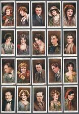 1928 Wills's Cigarettes Cinema Stars 2nd Series Tobacco Cards Complete Set of 25