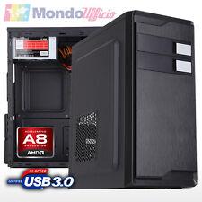 PC Computer Desktop AMD FM2+ A8-7600 3,10 Ghz Quad Core - Ram 8 GB 1600 Mhz DDR3