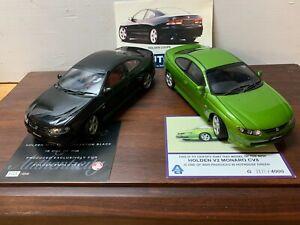 Holden Monaro CV8 Black Employee + Hothouse Green 1:18 COA Biante Autoart