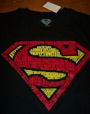 AWESOME SUPERMAN Dc Comics Words T-Shirt LARGE NEW w/ tag