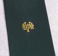Vintage Tie MENS Necktie Crested Club Association Society GREEN
