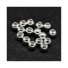 925 Sterling Silver Round Beads 2mm Silver 15 Pcs Art Hobby DIY Jewellery Making