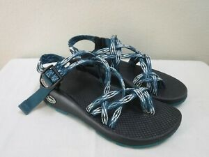 CHACO ZX2 CLASSIC 7 38 ANGULAR TEAL Geo Hiking Trail Water Sport Sandals Shoes