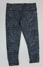 Zumba Scribble Perfect Capri Legging - Womens XS - Go for Gunmetal - NWT